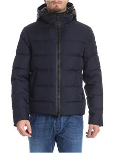 Fay - Blue hooded down jacket