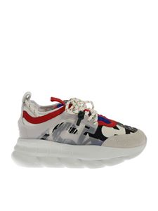 Versace - Multicolor sneakers with maxi white sole