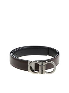 Salvatore Ferragamo - Dark brown belt with buckle closure