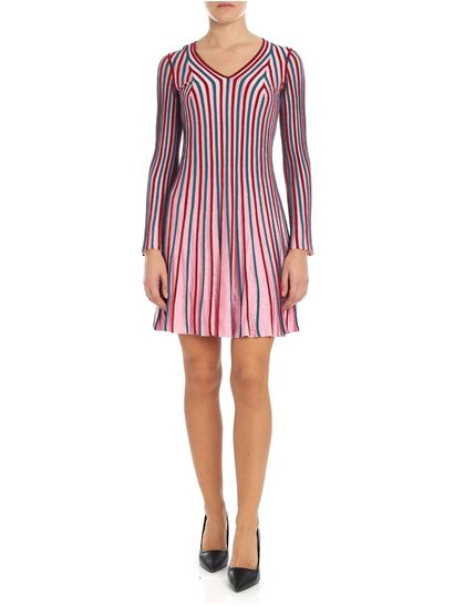 Kenzo - Pink and red knitted dress