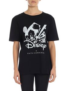 "Faith Connexion - T-shirt nera con stampa ""Mickey Mouse"""
