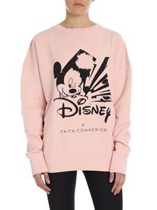 """Faith Connexion - Pink crewneck sweatshirt with """"Mickey Mouse"""" print"""