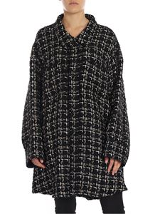 FAITH CONNEXION - Cappotto in tweed nero con inserti dorati
