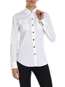 Balmain - White shirt with patch pockets