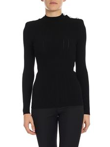 Balmain - Super slim sweater with branded buttons