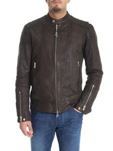 S.W.O.R.D. - Brown quilted leather biker