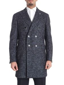 Brando - Semi-lined blue and black coat