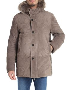 Canali - Brown suede down jacket