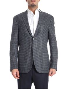Corneliani - Grey and blue two-button jacket