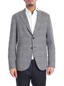 Eleventy - White and blue two-button jacket