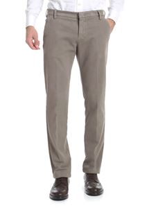 Entre Amis - Beige trousers with tailored cuffs