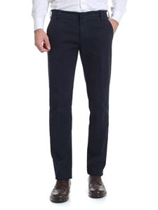 Entre Amis - Blue trousers with tailored cuffs