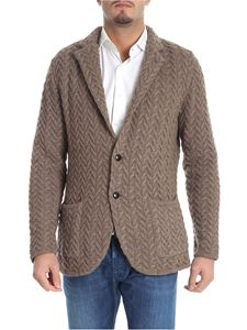 Lardini - Brown cardigan with notched lapels