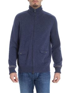 Fedeli - Blue denim cashmere cardigan