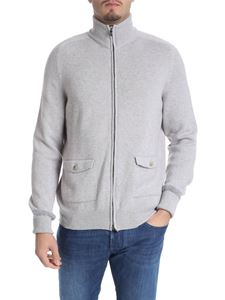 Fedeli - Ecru cashmere cardigan with pockets