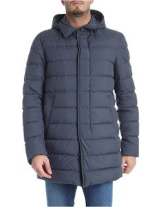 Herno -  Anthracite down jacket with removable hood
