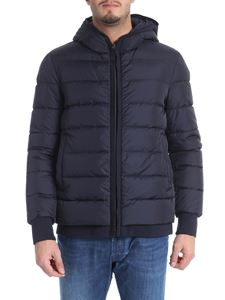 Herno - Blue hooded down jacket