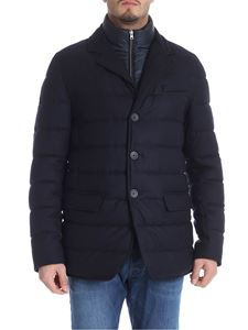Herno - Blue padded virgin wool down jacket