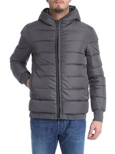 Herno - Grey hooded down jacket