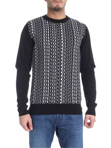 Balmain - Black and white jacquard sweater