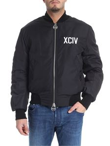GCDS - Black jacket with XCIV embroidery