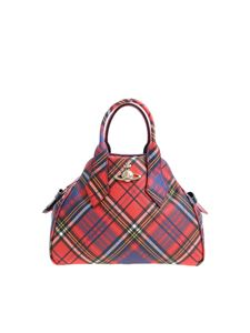 Vivienne Westwood  - Checked print handbag with logo
