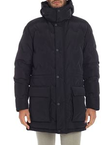 Z Zegna - Blue down jacket with removable hood