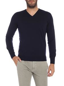 S.Moritz - Blue merino wool and silk sweater