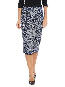 Jucca - Animalier skirt with lamé thread