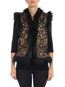 Michael Kors -  Black waistcoat with faux-fur
