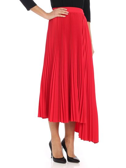 MSGM - Red pleated skirt