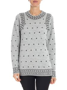 Michael Kors - Melange grey sweater with studs