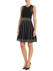 Michael Kors - Black knitted dress with studs