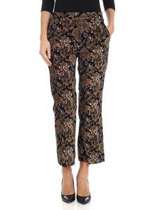Michael Kors - Black cashmere printed trousers