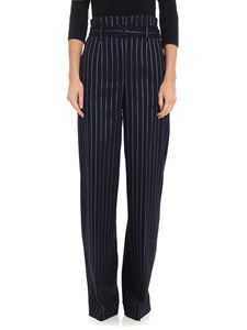 Jucca - Black pinstriped palazzo trousers
