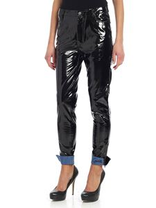 Gaelle Paris - Black patent trousers
