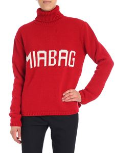 Mia Bag - Red turtleneck with logo insert