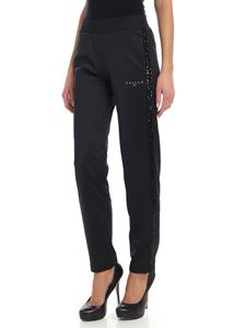 Gaelle Paris - Black trousers with sequin details