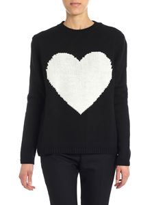 Mia Bag - Black pullover with heart insert