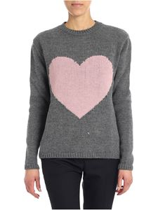 Mia Bag - Grey pullover with heart insert