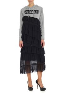 Gaelle Paris - Black and grey dress with flounces