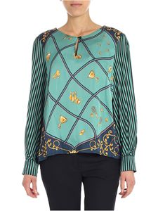 Shirtaporter - Green printed blouse