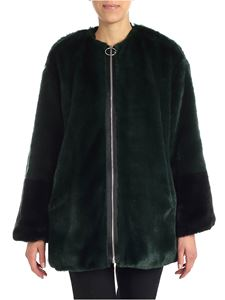 Gaelle Paris - Black and green eco-fur jacket