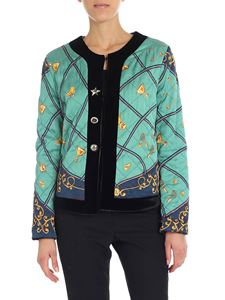 Shirtaporter - Diamond pattern water green jacket