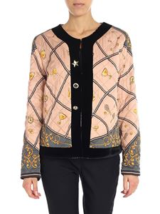 Shirtaporter - Pink diamond pattern jacket