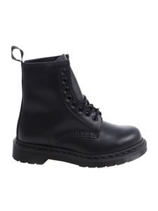"Dr. Martens - Black ""1460 Mono"" military boots"