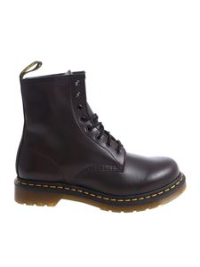 "Dr. Martens - Burgundy ""1460"" military boots"