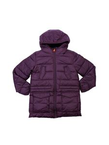 Save the duck - Burgundy hooded padded jacket