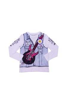 Stella McCartney Kids - Rock'n Roll white crewneck T-shirt