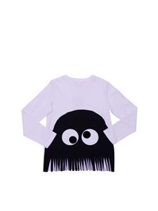 Stella McCartney Kids - Long-sleeved t-shirt with fringed bottom